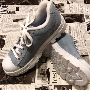 Shoes - NWOT Light Blue Suede Chunky Sneakers US7.5